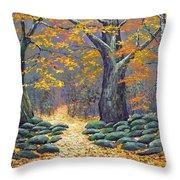Forest Light Throw Pillow