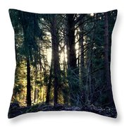 Forest Magic 8 Throw Pillow