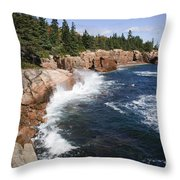 Forest Meets The Sea Throw Pillow