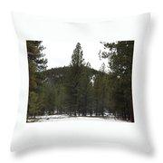 Forest Mountain Redux Throw Pillow