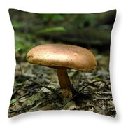 Forest Mushroom Throw Pillow