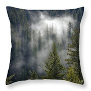 Forest Mystery Throw Pillow
