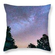 Forest Night Light Throw Pillow