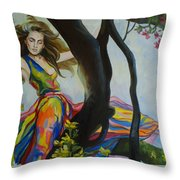 Forest Nymph  Throw Pillow