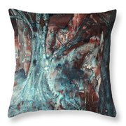 Forest Of A Different Color Throw Pillow