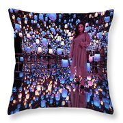 Forest Of Resonating Lamps Throw Pillow