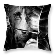 Forest Of The Labyrinth Lion Throw Pillow