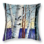 Forest Of Trees Throw Pillow