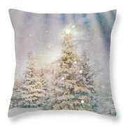 Forest Of Trees In The Light Throw Pillow