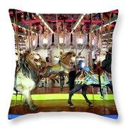 Forest Park Carousel Throw Pillow