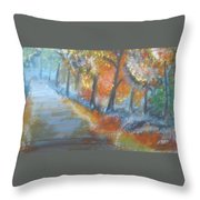 Forest Path.... Throw Pillow