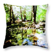 Forest People Throw Pillow