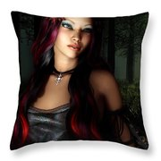 Forest Princess Throw Pillow