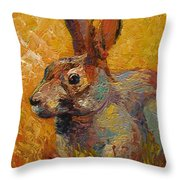 Forest Rabbit IIi Throw Pillow