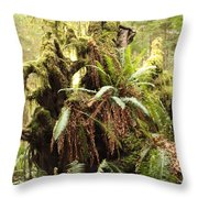 Forest Revival Throw Pillow