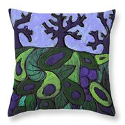Forest Royal Throw Pillow