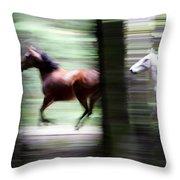 Forest Run Throw Pillow