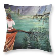 Forest Serenade Throw Pillow