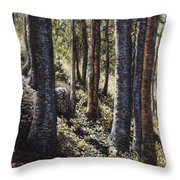 Forest Shadows Throw Pillow