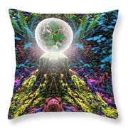 Forest Shrine Throw Pillow