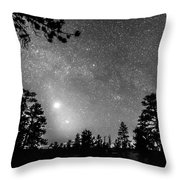 Forest Silhouettes Constellation Astronomy Gazing Throw Pillow