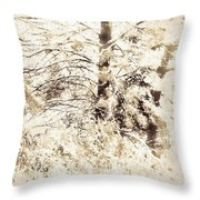 Forest Snow Throw Pillow