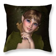 Forest Sprite Throw Pillow