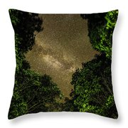Forest Star Patch Throw Pillow