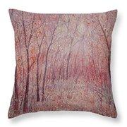 Forest Stillness. Throw Pillow