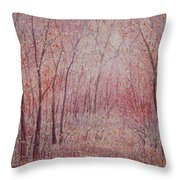 Forest Stillness. Throw Pillow
