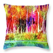 Forest Stream Throw Pillow by Darren Cannell