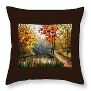 Forest Stream Throw Pillow