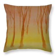 Forest Study Throw Pillow
