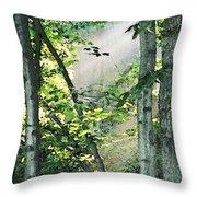 Forest Sunbeam Throw Pillow