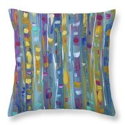 Forest Through The Trees, Abstract Art Throw Pillow