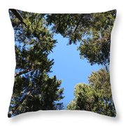 Forest Treetops Throw Pillow
