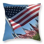Forever Flags Throw Pillow