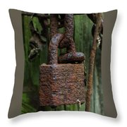 Forever Locked Throw Pillow