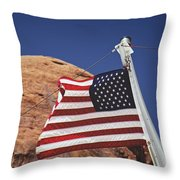 Forever May She Wave Throw Pillow
