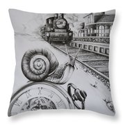 Forever On Time Throw Pillow