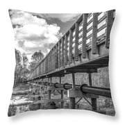 Forever Wild Trail Black And White Throw Pillow