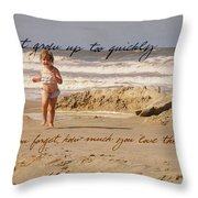 Forever Young Quote Throw Pillow