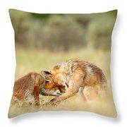 Foreverandeverandever - Red Fox Love Throw Pillow