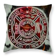 Forged In Fire - Cairns - Oil Throw Pillow