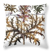 Forget-me-not & Acanthus Throw Pillow