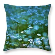Forget-me-not Flower Patch Throw Pillow