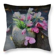 Forgotten Again - Painted Throw Pillow