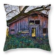 Forgotten Barn Throw Pillow by Garry Gay