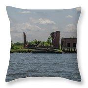 Forgotten Industry Throw Pillow