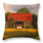 Forgotten Old Ford Throw Pillow